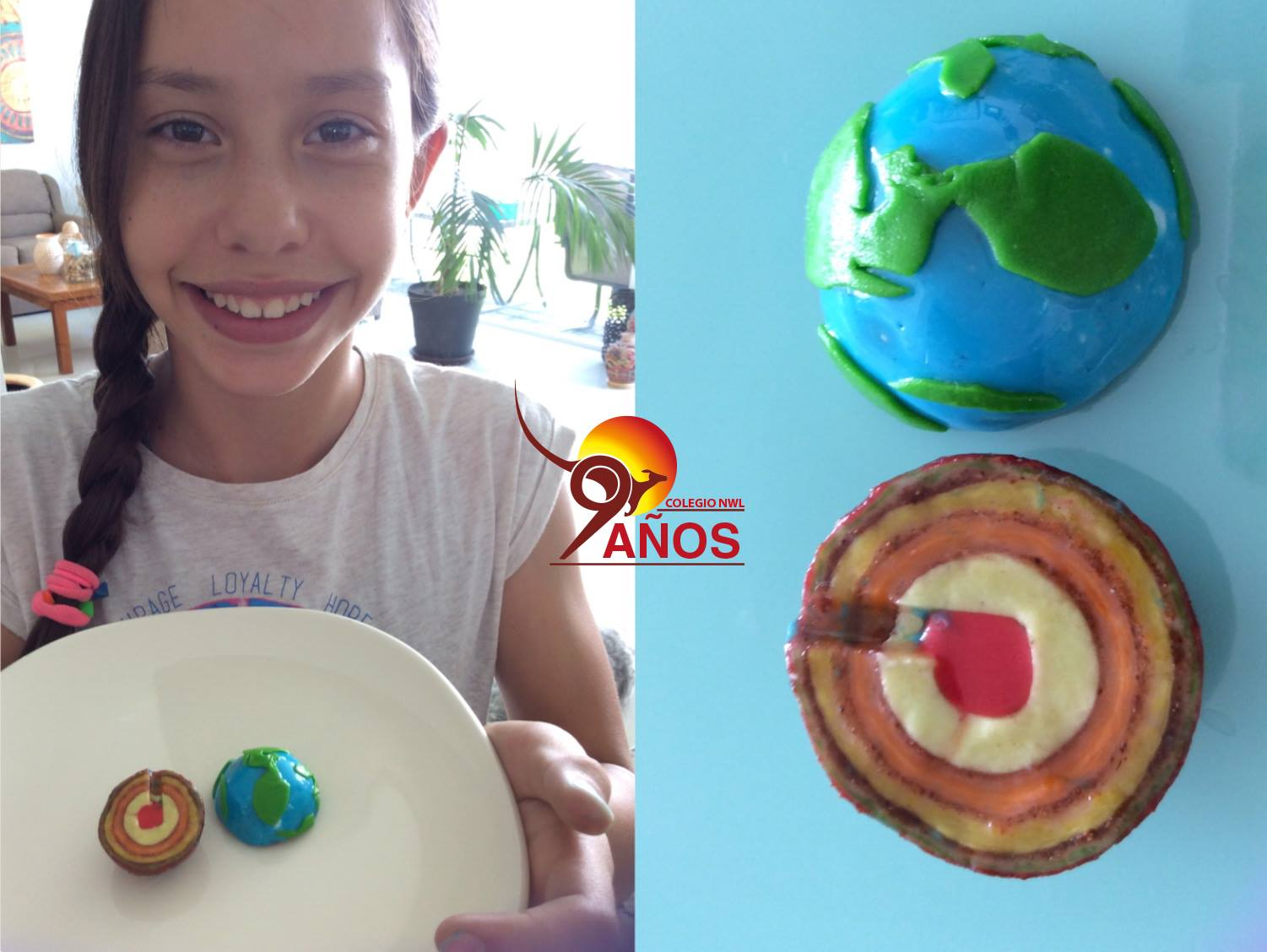 Edible model of Layers of the Earth